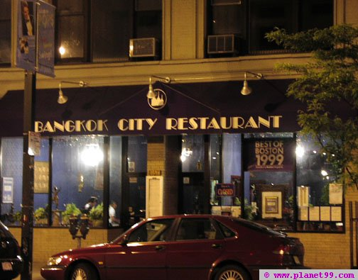 Bangkok City Restaurant , Boston