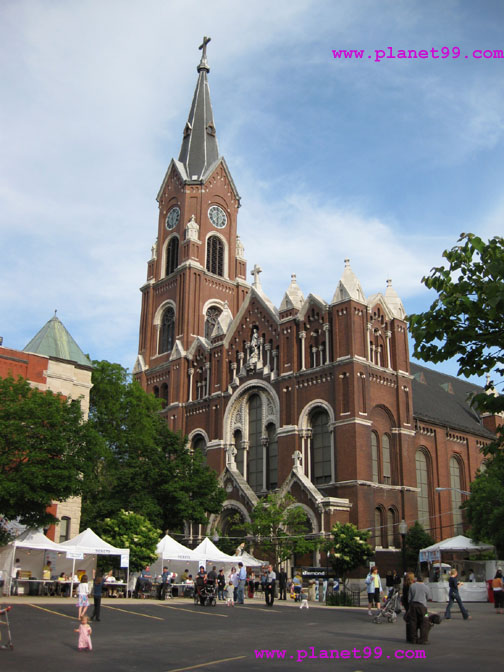 Celebration at St. Michael's Church In Old Town,Chicago