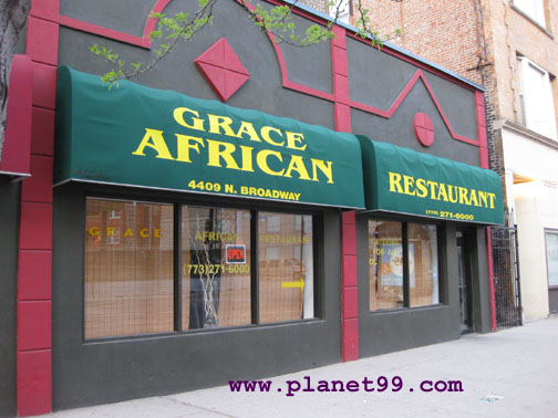Chicago grace african restaurant with photo via planet99 for African cuisine chicago