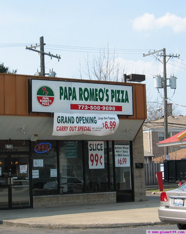 Papa Romeo's Pizza , Chicago