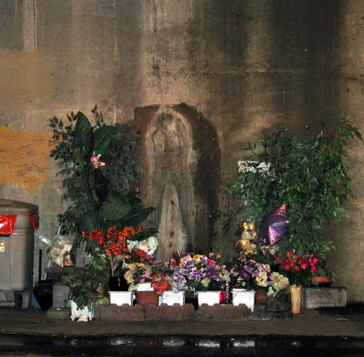 Fullerton Underpass Virgin Mary , Chicago