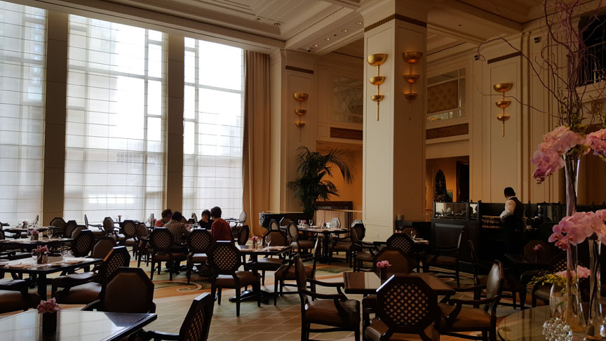 Lobby at the Peninsula Hotel , Chicago